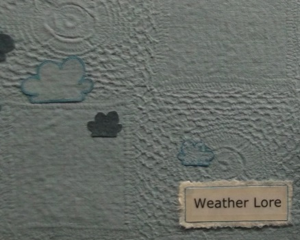 Weather Lore, by Heather Hunter, inside cover detail.